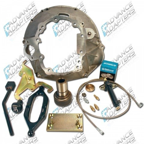 27-3510AA : NV3550 AX15 installation kit for the 1987-89 Jeep Wrangler with NP231
