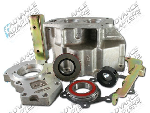 50-0206 : GM NV4500 4WD to GM 32 spline NP205 with figure 8 front bolt pattern. Transfer Case Adapter (repl.TH400).
