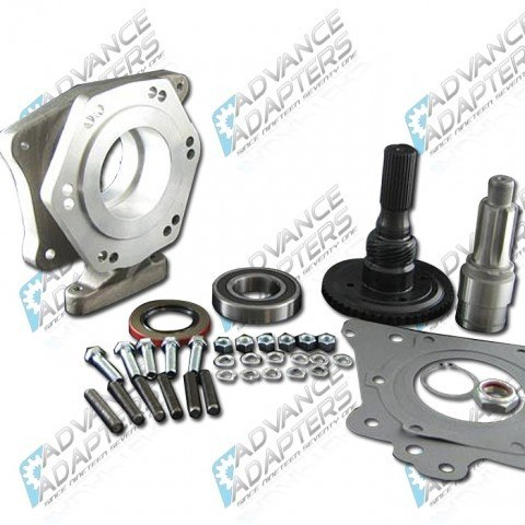 50-1300 : GM TH400 automatic transmission to the Jeep Dana 18/20 transfer case (with 6 spline drive gear), adapter kit.