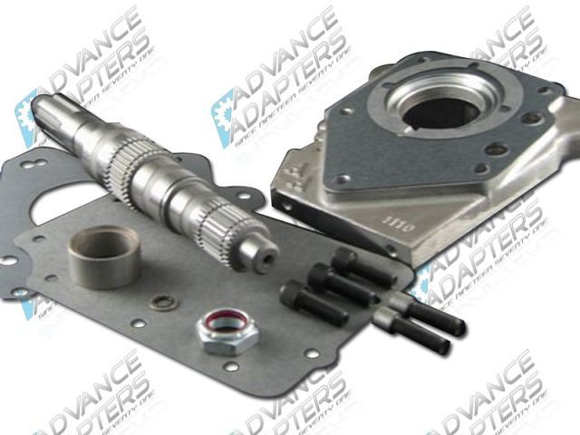 50-2000 : Ford T&C cast iron case 4 Speed to the Jeep Dana 18/20 transfer case (with 6 spline drive gear), adapter kit.