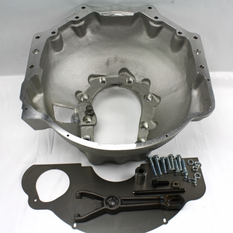 712561 : Toyota Truck R150 & R151F, V6 Manual Transmission to GM V8 Adapter Bell Housing Kit.