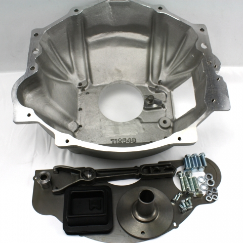 712576 : Chevy V8 & V6 to the 1996 & up GM version NV4500 5 speed, adapter bellhousing kit.
