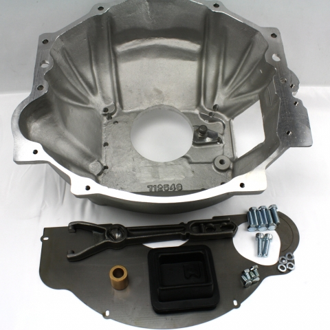 712577 : Chevy V8 & V6 engine to the 1993-95 GM NV4500 5 speed, adapter bellhousing kit.