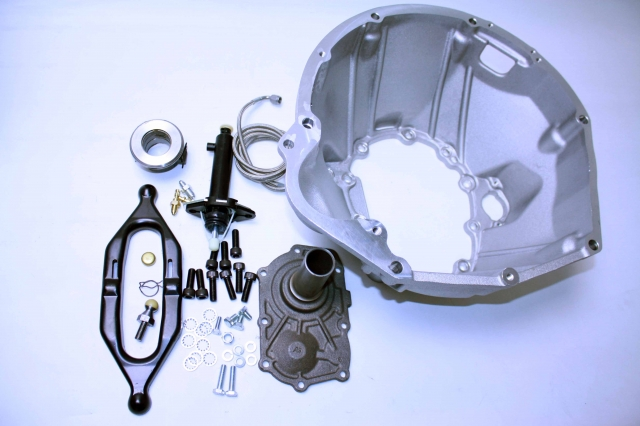712590-IR : Jeep Wrangler AX15 bellhousing kit Replacing Internal Clutch.Release to External