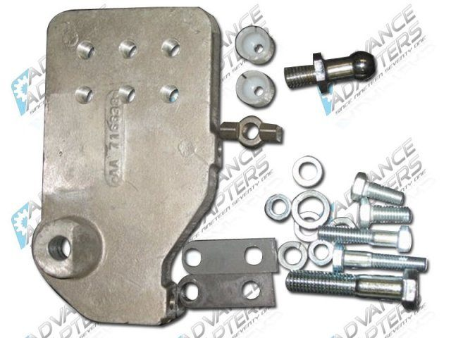 716638 : 1973-86 Jeep Clutch Control Bracket for GM V8 / V6 BellHousings
