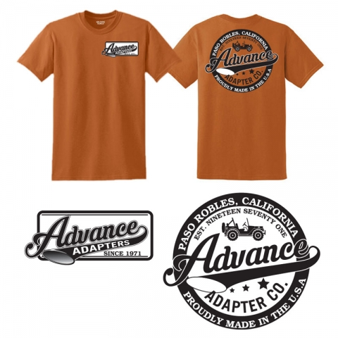 Advance Adapters Vintage Tee (Orange)