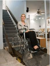 Butler incline wheelchair stair lift 500 to 750 pound capacity!