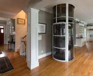 PVE 52″ white pneumatic vacuum elevator installed Arlington VA 2013.