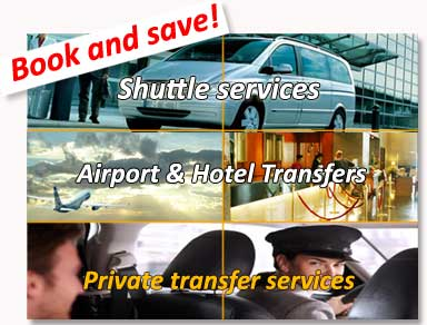 Shared transfers to the hotel (shuttle bus) and private transfers from / to Bilbao airport