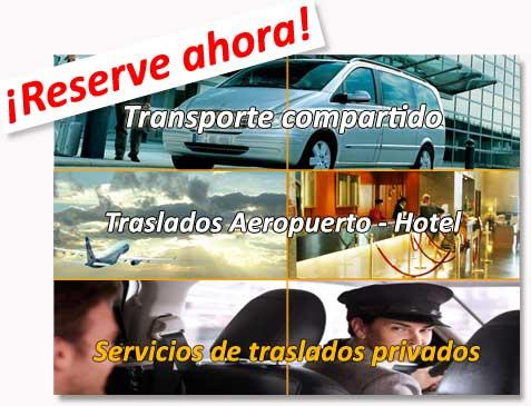 Traslados compartidos al hotel (shuttle bus) y traslados privados desde/hasta el aeropuerto de Bilbao