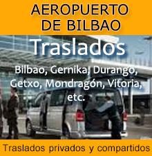 Traslados privados y compartidos aeropuerto Bilbao