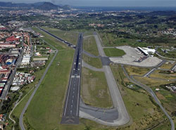 Aerial view of Bilbao airport