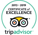 TripAdvisor Certificate of Excelence 2013-2019