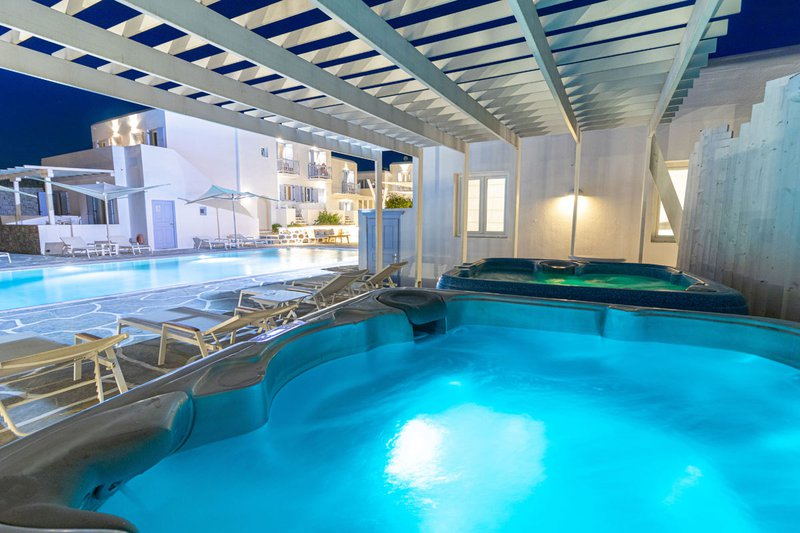 The Jacuzzis of the Main Section beside the pool