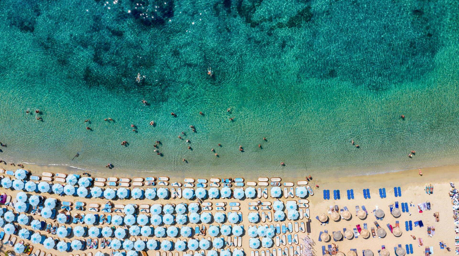 Παραλία στην Χώρα Μυκόνου