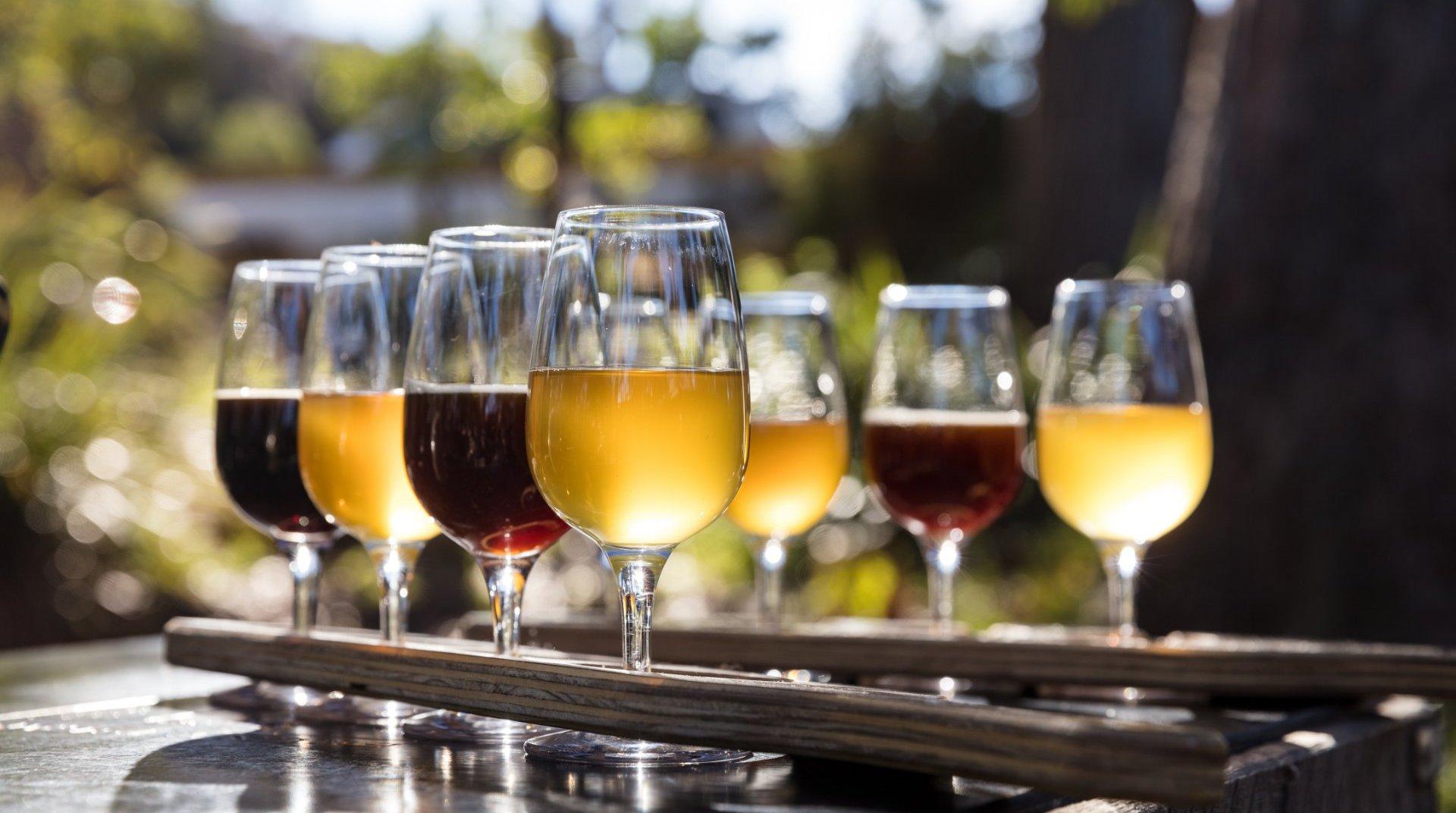Beer tasting in the island of Mykonos