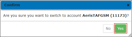 Confirm Account Switch Operation
