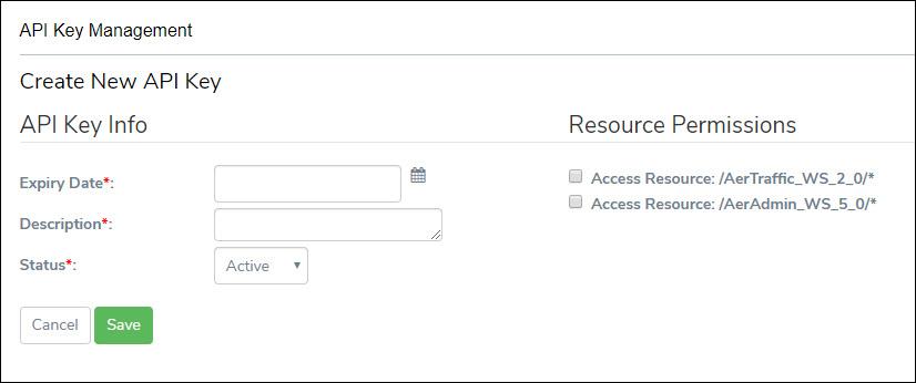 Creat API Key Screen