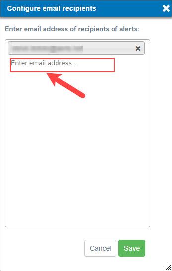 Specify Email Address