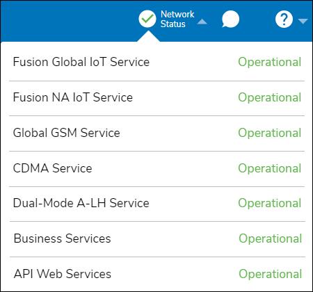 Network Status drop-down List