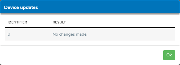 Device Update Result