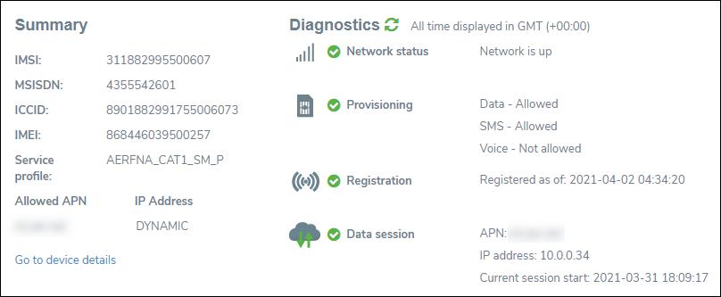 Device Network Status
