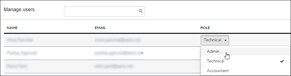 Selecting User Role Drop Down