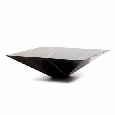 lythos black syrian aziza marble center table