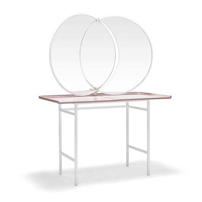 Olympia Dressing Table lacquered ceramic top with Mirror, by Nika Zupanc for Se Collections - AFFLUENCY, Unique by Design - Asia's premier e-tailer to discover and shop online for Luxury furniture, unique home decor and design masterpieces