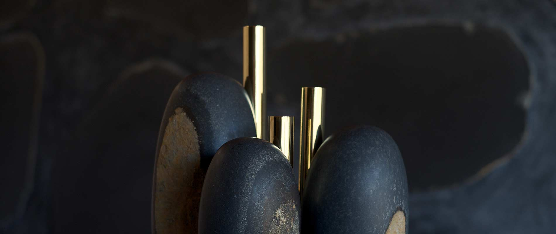 Okurayama Studio and Dan Yeffet, the art of craft. Date Kan, datekan vulcanic stones Japan