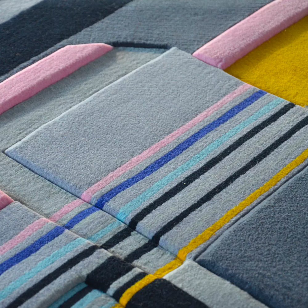 Elena Manferdini, blurring the lines between design, architecture and fashion. Hand-knotted rugs for Urban Fabric - AFFLUENCY, Unique by Design - Asia's premier e-tailer to discover and shop online for Luxury furniture, unique home decor and design masterpieces