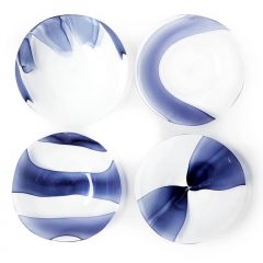 Siena Murano glass dessert plates set by Stories of Italy - AFFLUENCY, Unique by Design - Asia's premier destination to discover and shop online for Luxury furniture, unique home decor and design masterpieces