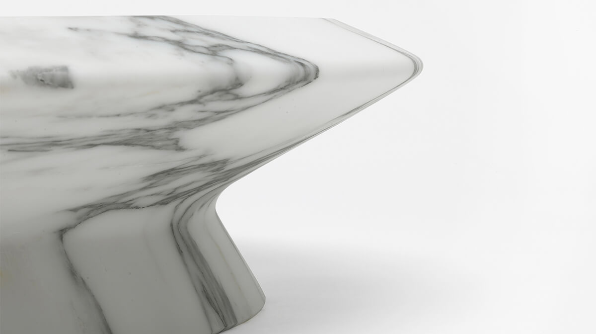 Amaltea marble centrepiece by Ivan Colominas for MMairo, the purity of Marble. Combining traditional handicrafts of luxury materials with a strong vision for essential aesthetics and unique pieces - AFFLUENCY, Unique by Design - Asia's premier destination to discover and shop online for Luxury furniture, unique home decor and design masterpieces