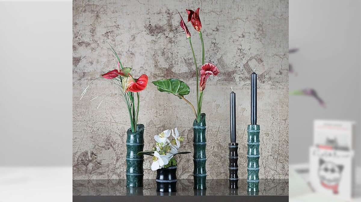 KADOMATSU marble vases by Michele Chiossi for MMairo, the purity of Marble. Combining traditional handicrafts of luxury materials with a strong vision for essential aesthetics and unique pieces - AFFLUENCY, Unique by Design - Asia's premier destination to discover and shop online for Luxury furniture, unique home decor and design masterpieces