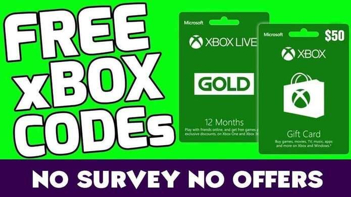 Free Xbox Live Codes Xbox Live Code Generator 2020