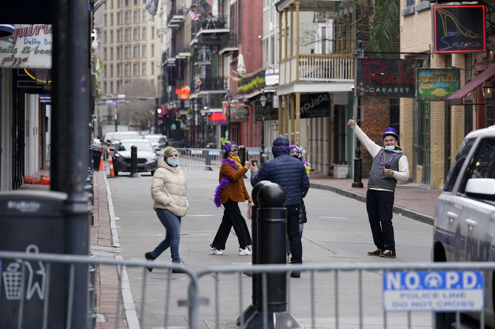 A different Mardi Gras: Closed bars, barricaded Bourbon Street