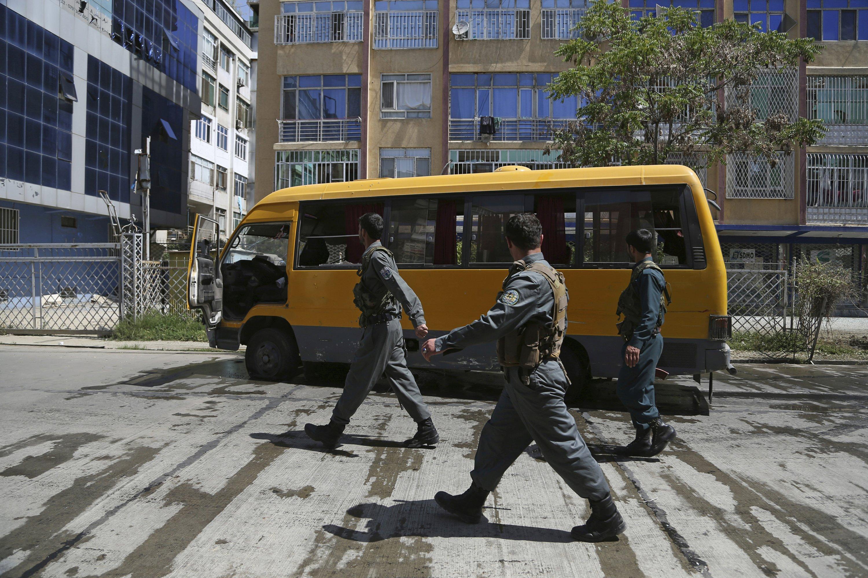 Bombings in Afghan capital kill 2 people, injure 2 reporters