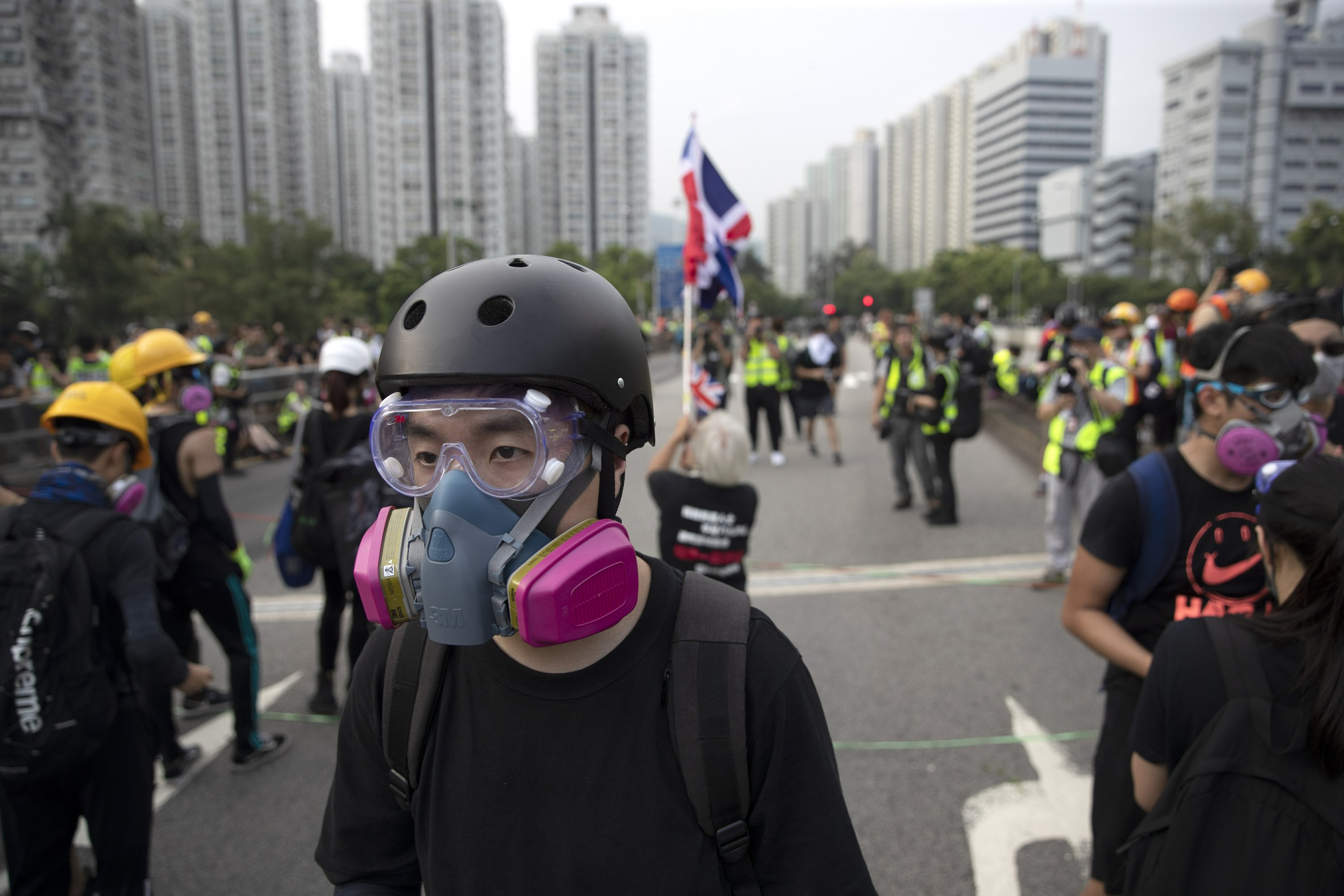'Protesters vs. police': HK die-hards defend their stance