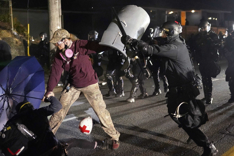 Oregon trooper injured, 24 arrested in Portland protests