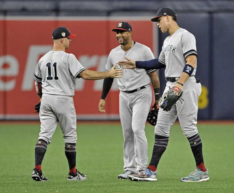 check out f811d ebcd1 Judge hits 2nd HR of game in 11th, Yankees beat Rays 8-4
