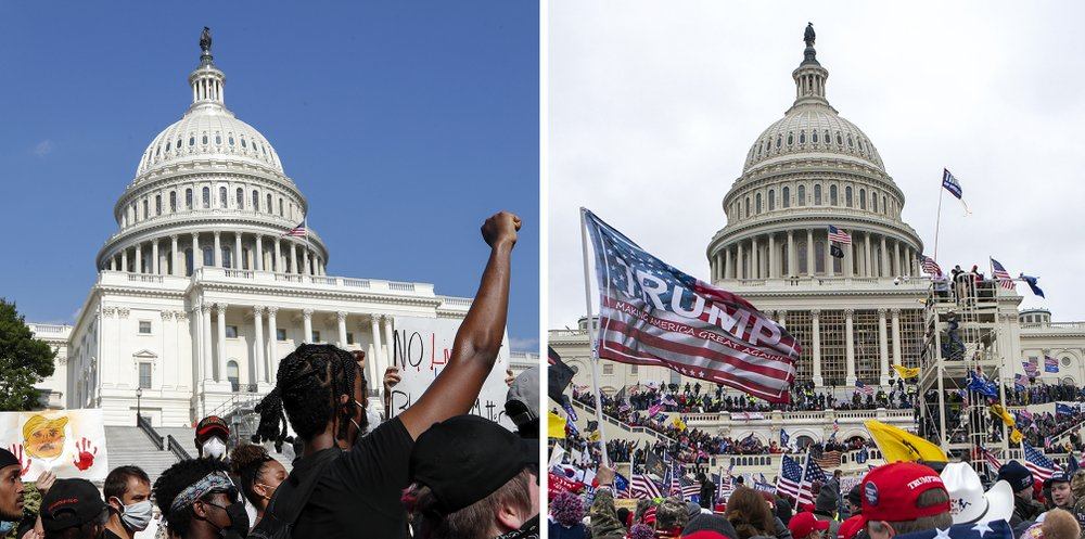 Plainest display of a racial double standard in rioters' Capitol insurrection