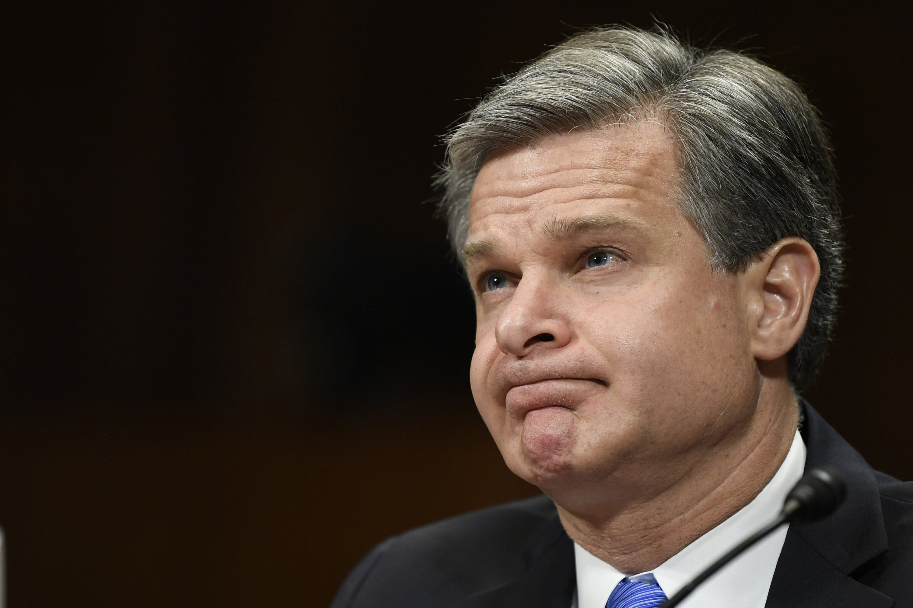 Image result for Christopher Wray has said China poses a more serious counterintelligence threat
