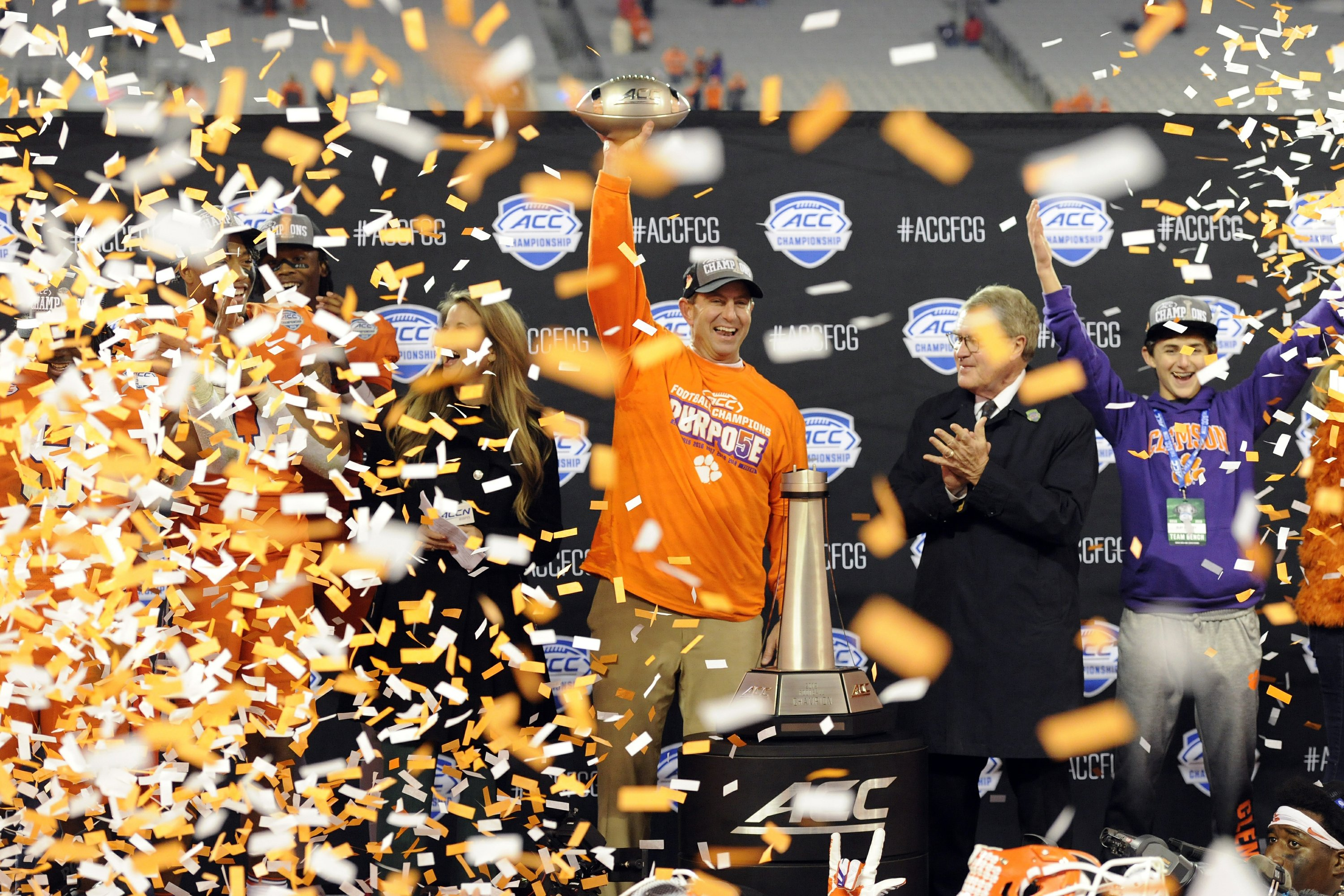 No. 3 Clemson tops No. 22 Virginia 62-17 for ACC title