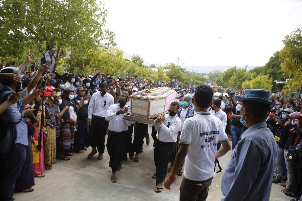 Myanmar protesters' plan for general strike draws junta threat; more funerals