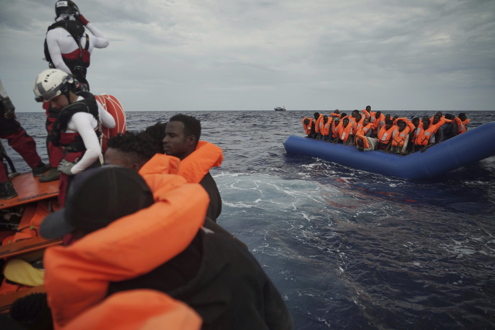 Charity ship rescues 50 African migrants in sea off Libya