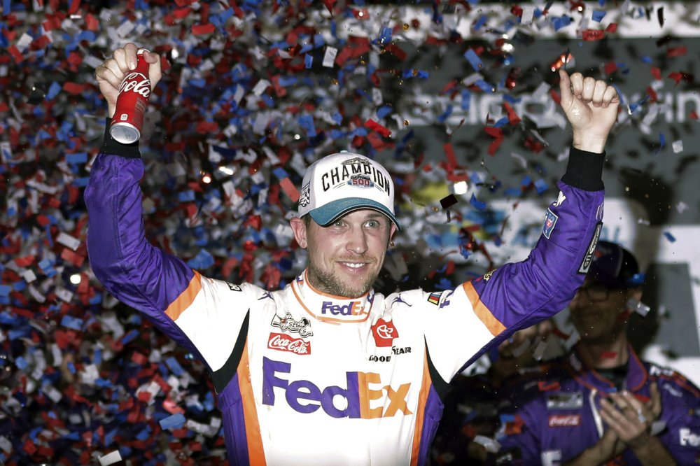Another victory for Denny Hamlin as he closes NASCAR's iRacing Series