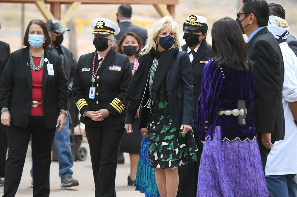 Native American students describe pandemic struggles to first lady Jill Biden