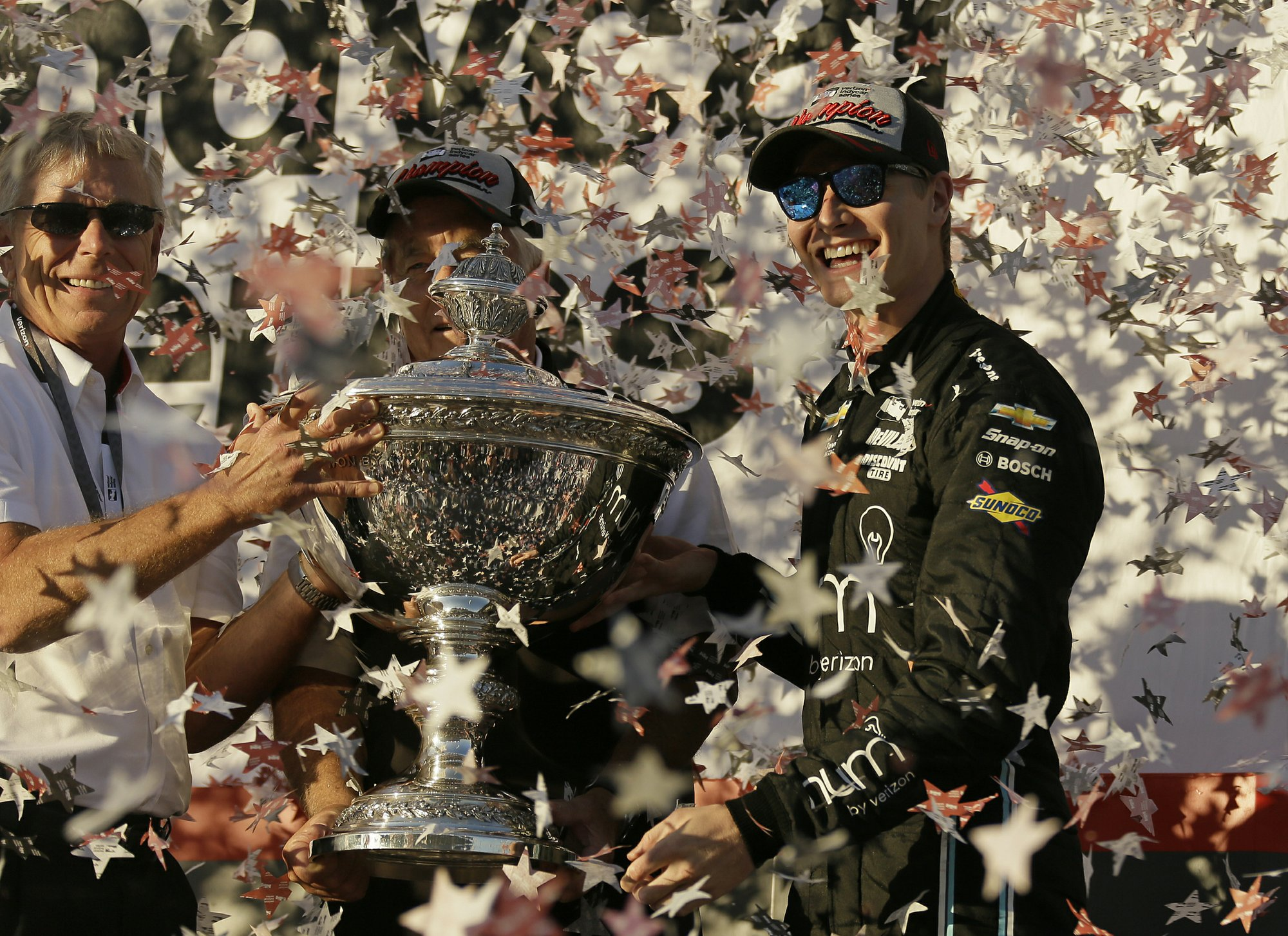 Newgarden leading on different path in IndyCar title chase