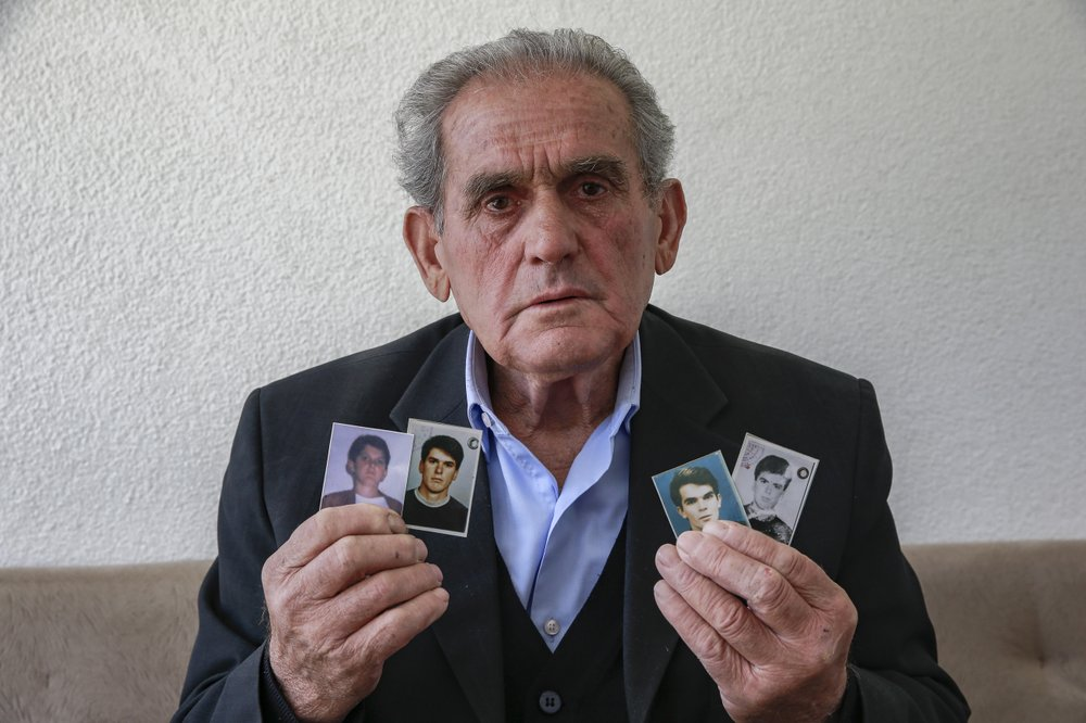 Halil Hasani is convinced his four sons are alive and imprisoned somewhere in Serbia