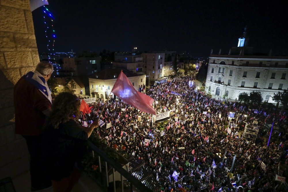 Thousands had protested for nine months against Israel's Netanyahu ahead of vote
